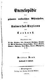 Encyclopädie der gesammten musikalischen Wissenschaften: Bd. Fockerodt-Irland. 1840