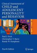 Clinical Assessment of Child and Adolescent Personality and Behavior PDF