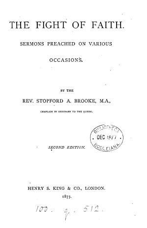 The fight of faith  sermons