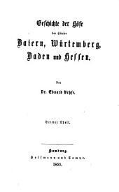 Geschichte der deutschen höfe seit der reformation: Band 25