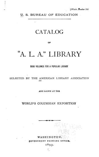 Catalog of  A L A   Library PDF
