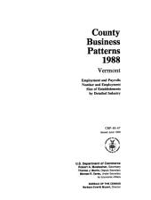 County business patterns, Vermont