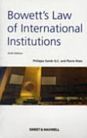 Bowett s Law of International Institutions PDF