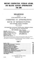 Military Construction  Veterans Affairs  and Related Agencies Appropriations for 2008 PDF