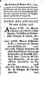 Mémoires pour l'histoire des sciences et des beaux-arts: Volume 231; Volume 1758
