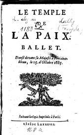 Le temple de la paix: Ballet