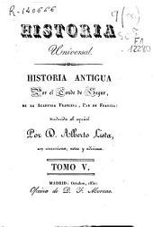 Historia antigua: Volumen 5