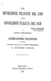 La rivoluzione francese del 1789 e la rivoluzione italiana del 1859: saggio comparativo
