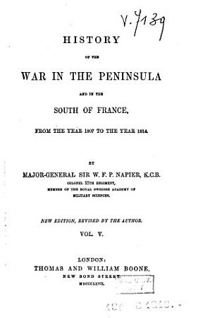 History of the War in the Peninsula  and in the South of France PDF