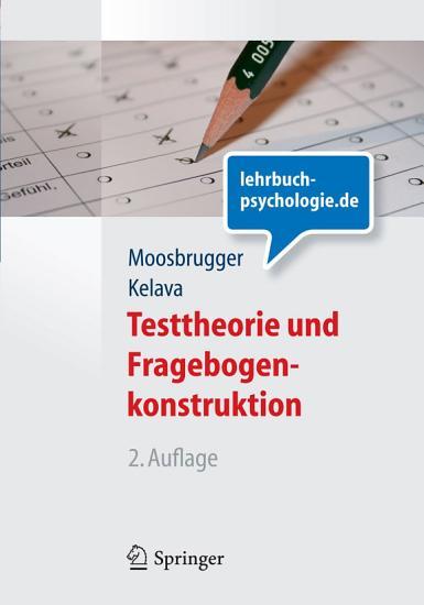 Testtheorie und Fragebogenkonstruktion PDF