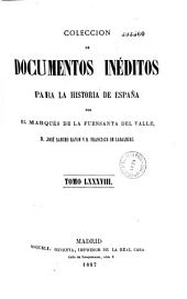 Coleccion de documentos ineditos para la historia de Espana: Volumen 88