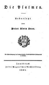 Die Psalmen; uebers. von Peter Alois Auer