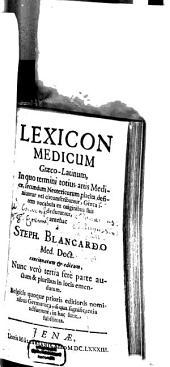 Lexicon medicum graeco-latinum