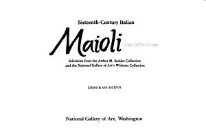 Sixteenth century Italian Maiolica
