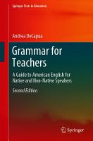 Grammar for Teachers PDF