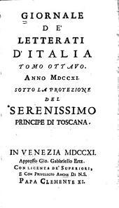 Giornale de' letterati d'Italia: Volume 8