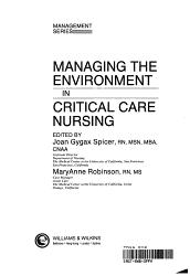 Managing the Environment in Critical Care Nursing PDF