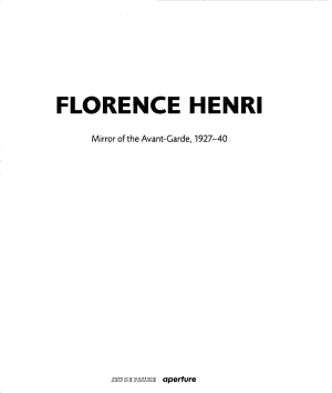 Florence Henri  Mirror of the Avant Garde 1927 40