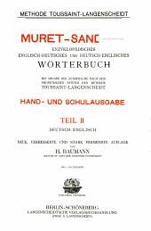Deutsch-englisch, von H. Baumann. 18. Aufl