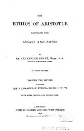 The Ethics of Aristotle: Volume 2