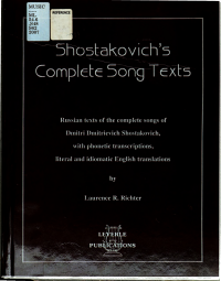 Shostakovich s complete song texts PDF