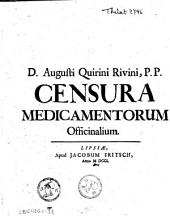 Censura medicamentorum officinalium