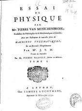 Essai de physique: Volume 1