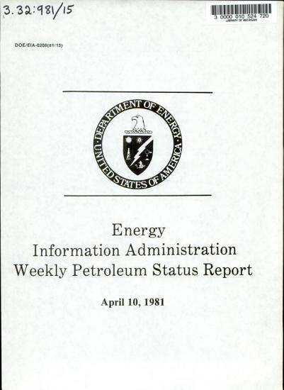 Weekly Petroleum Status Report PDF