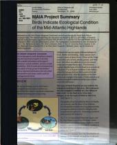 MAIA Project Summary: Birds Indicate Ecological Condition of the Mid-Atlantic Highlands