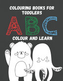 Colouring Books For Toddlers ABC Color And Learn