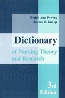 Dictionary of Nursing Theory and Research PDF