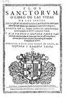 Flos sanctorum o libro de las vidas de los santos     anadidas     por     Eusebio Nieremberg  etc   PDF