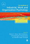 The SAGE Handbook of Industrial  Work   Organizational Psychology  2e  V3