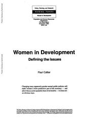 Women in Development: Defining the Issues