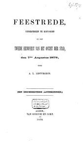 Feestrede, uitgesproken te Koevorden op het tweede eeuwfeest van het ontzet der stad, den 7den Augustus 1872