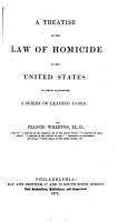 A Treatise on the Law of Homicide in the United States PDF