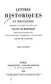 Lettres historiques et édifiantes: adressées aux dames de Saint-Louis, publiées pour la première fois sur les manuscrits authentiques, Volume2