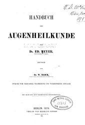 Handbuch der Augenheilkunde