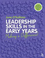 Leadership Skills in the Early Years PDF