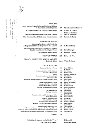 The Journal of the American Scientific Affiliation PDF