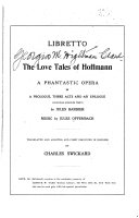 Libretto of The Love Tales of Hoffmann