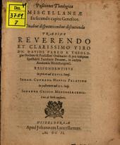 Positiones theologicae miscellaneae ex secundo capite Geneseos: duabus disputationes discutiendae
