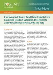 Improving nutrition in Tamil Nadu: Insights from examining trends in outcomes, determinants and interventions between 2006 and 2016