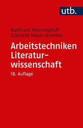Arbeitstechniken Literaturwissenschaft PDF