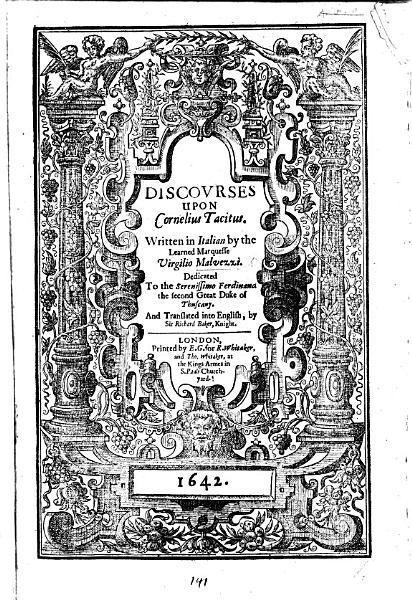 Discourses upon Cornelius Tacitus      Translated into English by Sir  R  Baker PDF