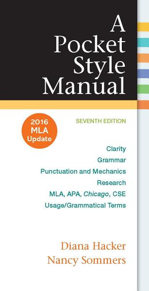 A Pocket Style Manual  2016 MLA Update Edition