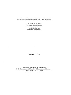 State Aid for Special Education PDF