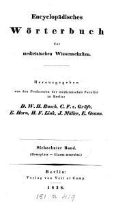Encyclopädisches Wörterbuch der medicinischen Wissenschaften