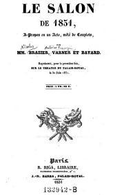 Le salon de 1831, a propos en 1 acte