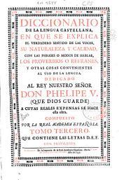 Diccionario de la lengua castellana: en que se explica el verdadero sentido de las voces ...